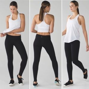 Lululemon Black Wunder Under Yoga Leggings Size 6